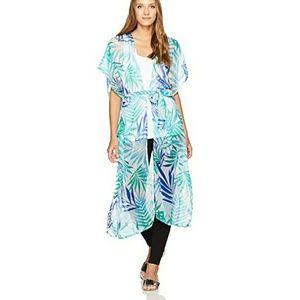 Tops - Pretty palm print kimono